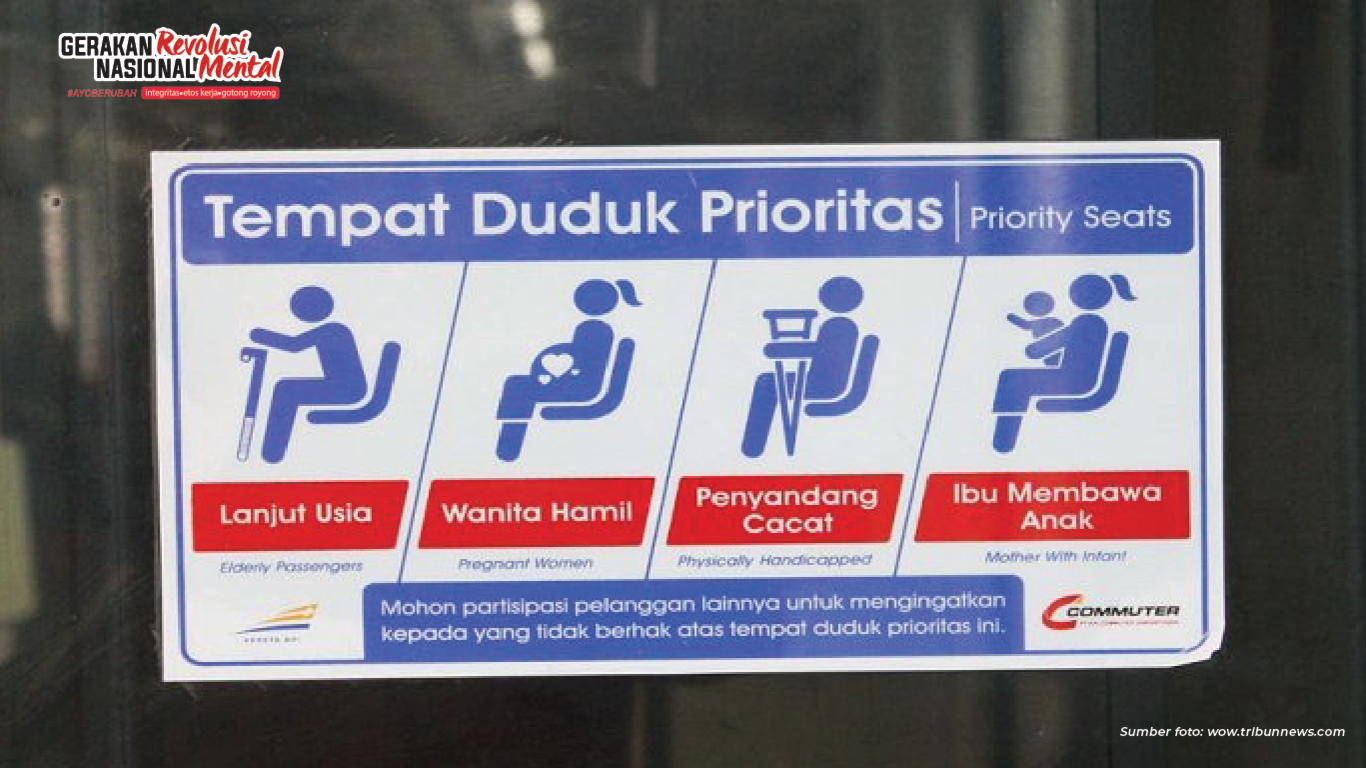 Etika transportasi umum berikan kursi pada kelompok prioritas