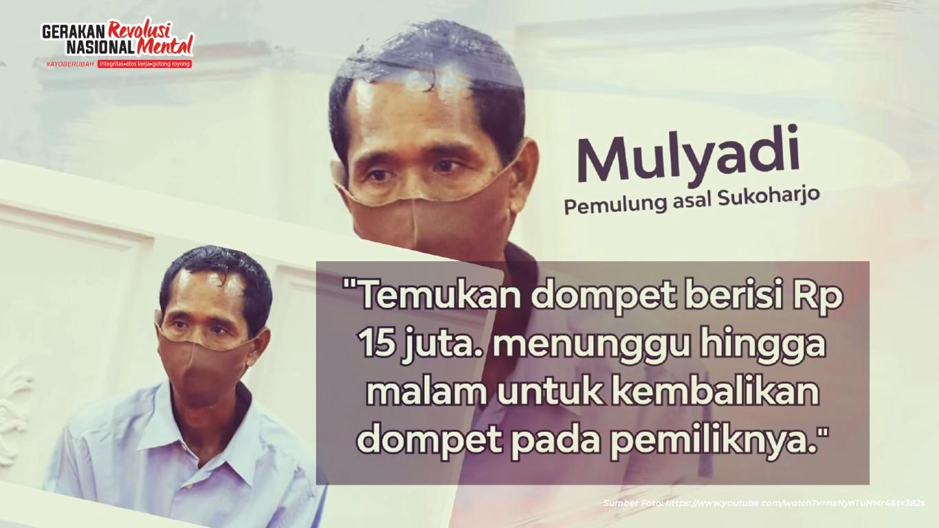 Pemulung integritas jadi teladan kejujuran Jawa Tengah