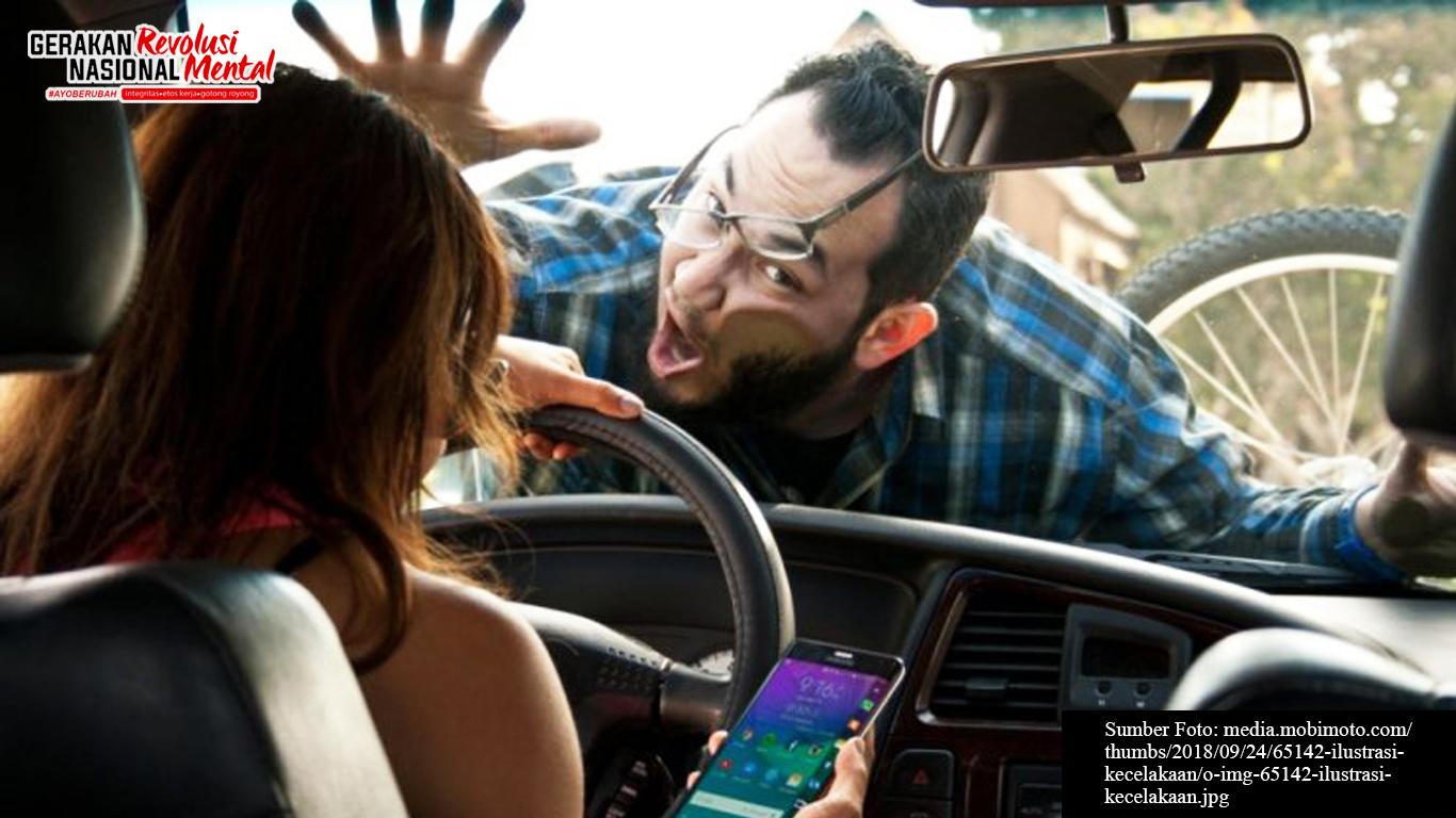 Ilustrasi kecelakaan karena kelalaian pengemudi
