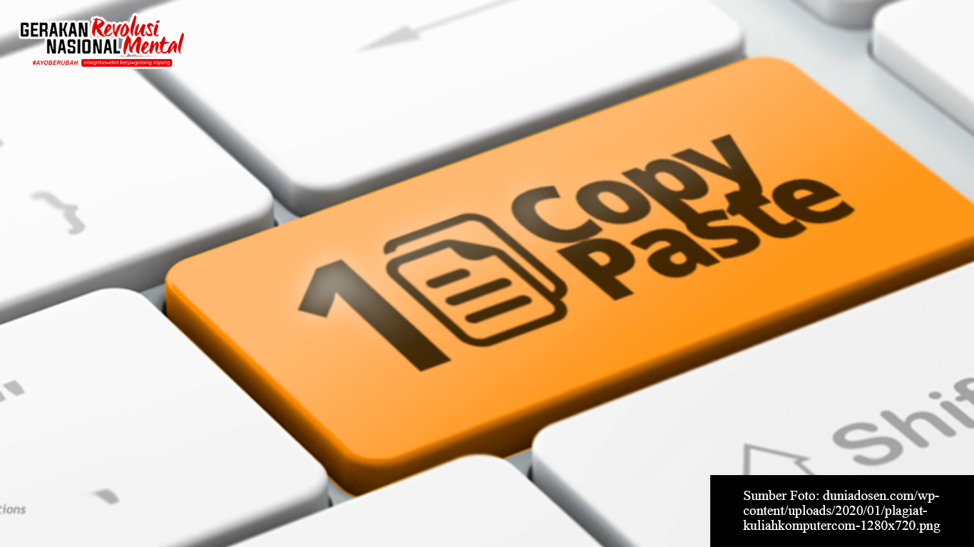Simbol copy-paste pada keyboard komputer