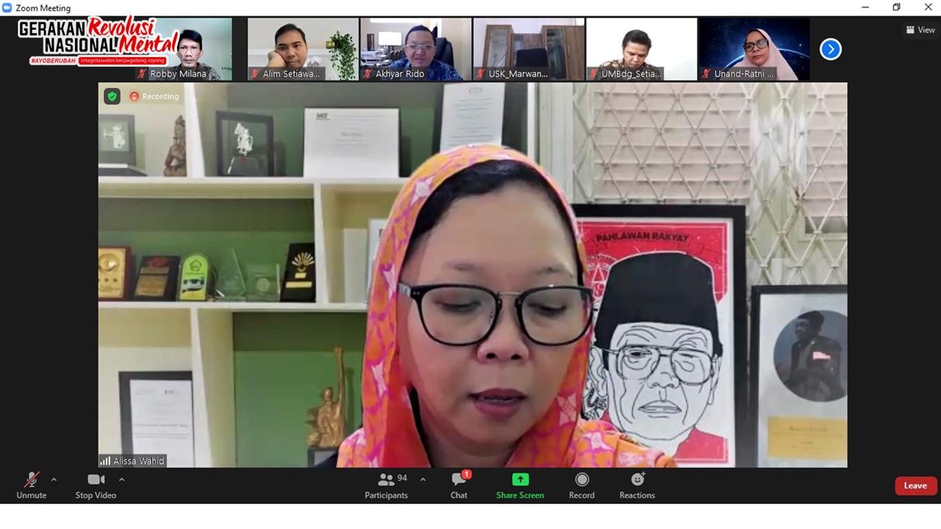 Alissa Wahid memberikan pemaparan mengenai Gugus Tugas Nasional Revolusi Mental