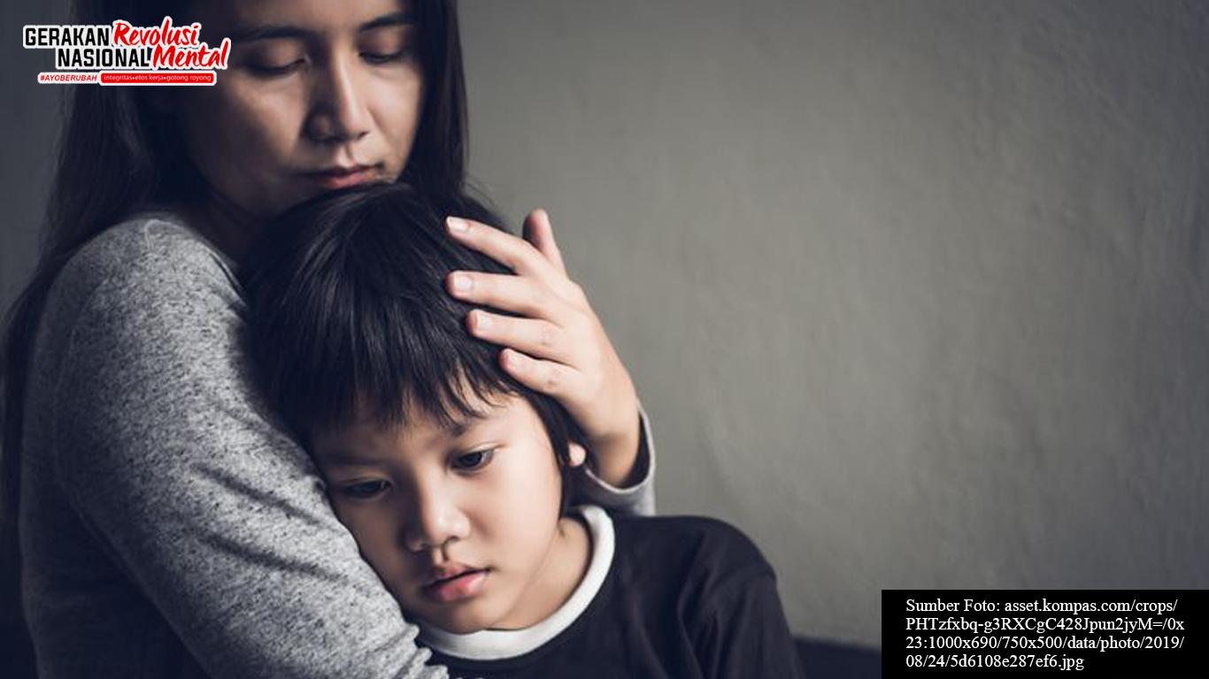 Anak dan orang tua dalam kondisi emosi