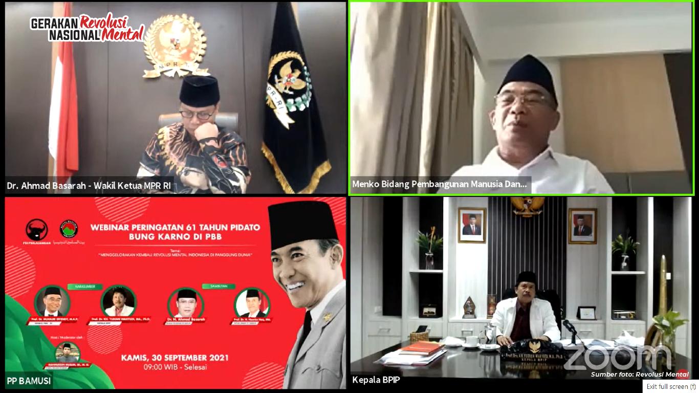 acara Peringatan 61 Tahun Pidato Bung Karno di PBB yang diselenggarakan PP Baitul Muslimin Indonesia (Bamusi)