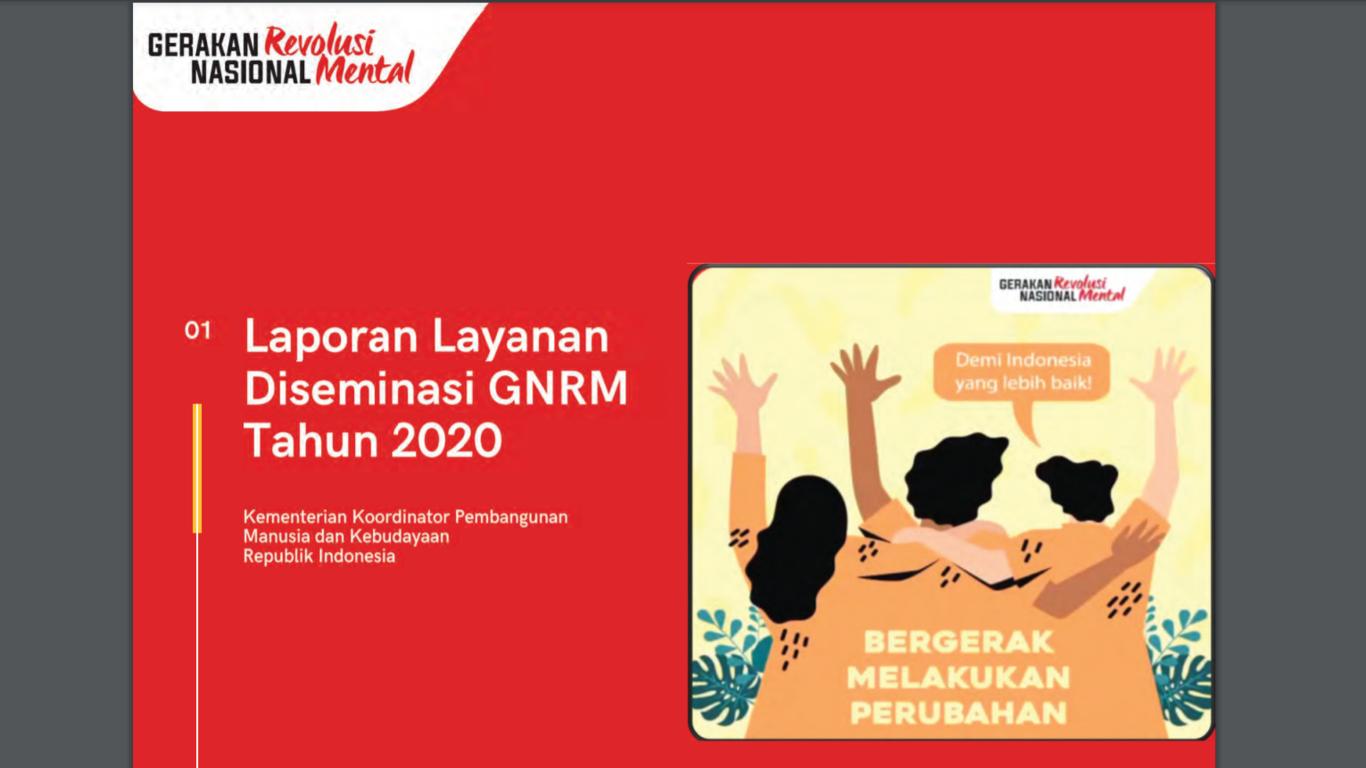 Laporan Layanan Diseminasi GNRM tahun 2020