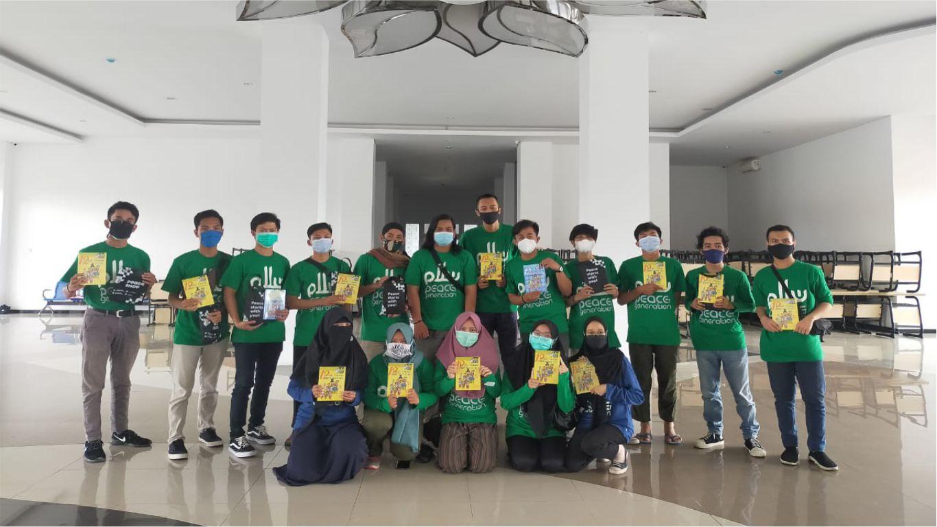 Peserta kegiatan Online training Pendidikan Perdamaian Bagi Mahasiswa untuk Meningkatkan Toleransi Keberagamaan Universitas Muhammadiyah Kalimantan Timur