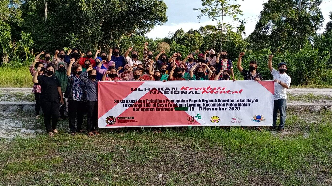 Pelatihan Teknologi Pertanian Berbasis Kearifan Lokal Dayak kepada Para Petani di Desa Tumbang Lawang, Kalimantan Tengah