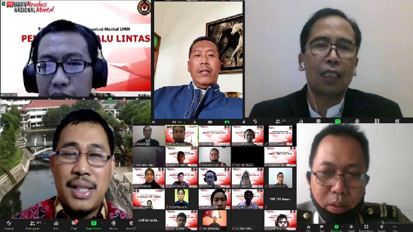 Kegiatan webinar gerakan nasional revolusi mental di Universitas Muhammadiyah Malang