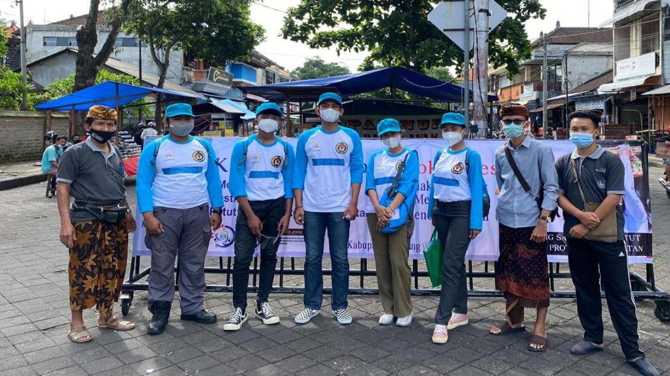 Kampanye gerakan indonesia tertib protokol kesehatan cegah covid 19 oleh KIPAN di Bali