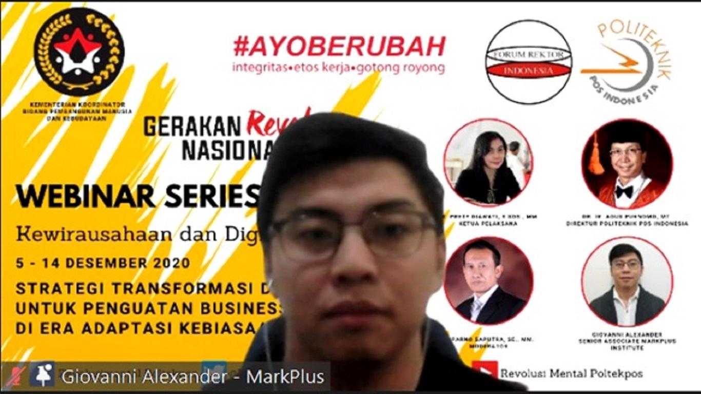 Webminar Revolusi Mental Kewirausahaan dan Digitalpreneurship oleh Politeknik Pos Indonesia